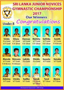 Sri Lanka Junior Novices Gymnastics championship 2016_mahinda_college-champions